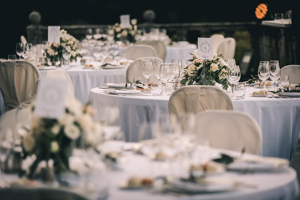 Elegant wedding reception, Italy