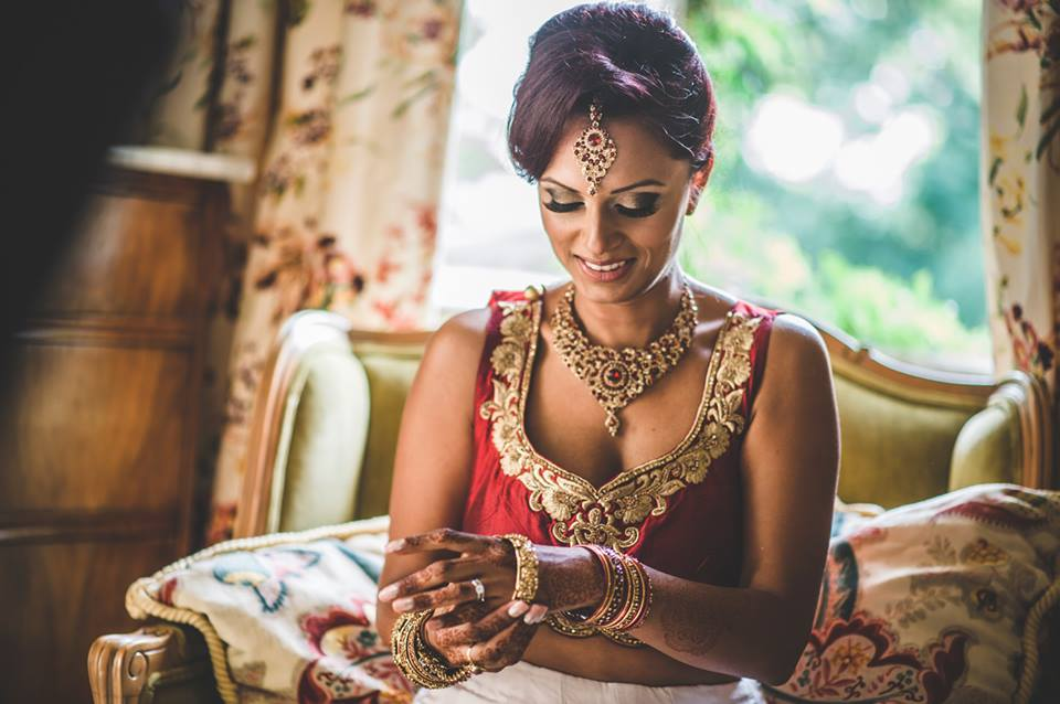 Bride during Hindu Wedding in Italy