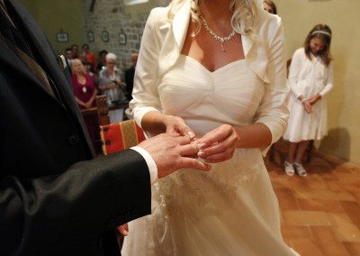 Getting married in Florence - exchange of rings