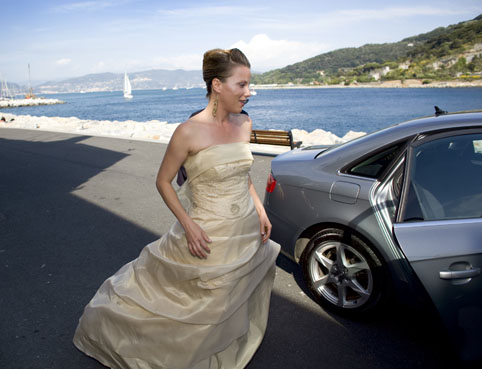 Bride at the Italian Riviera