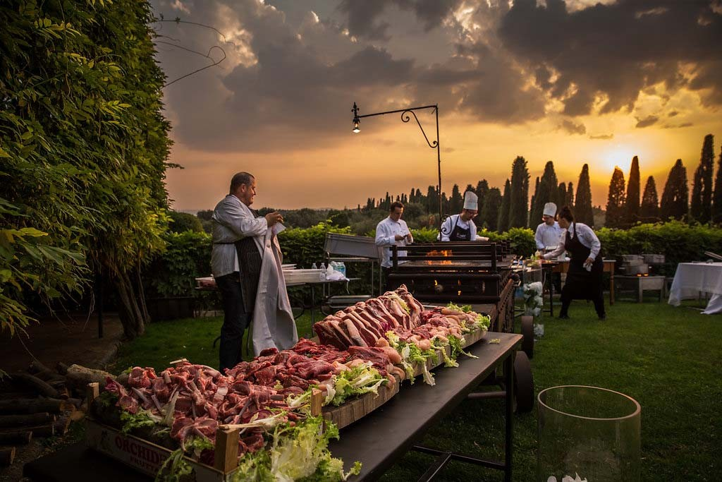 Wedding Reception Dinner in Tuscany