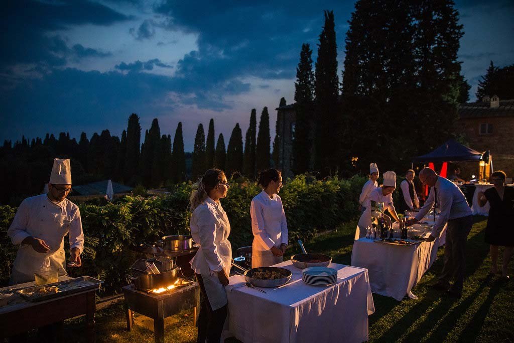 Wedding Dinner Reception in Tuscany