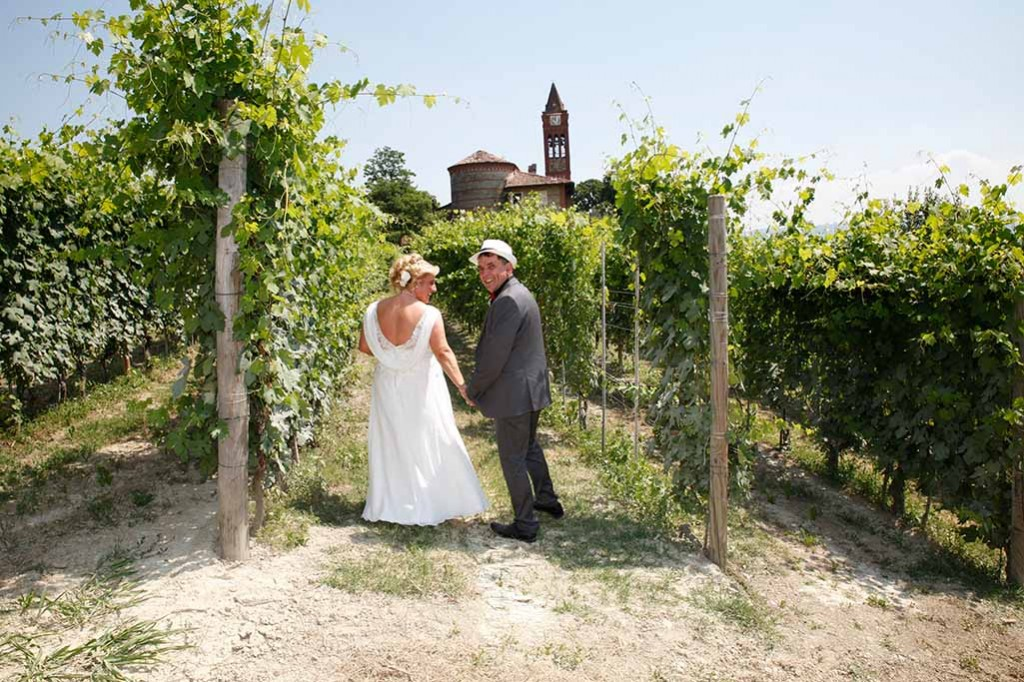 Couple in Vineyards in Piedmont
