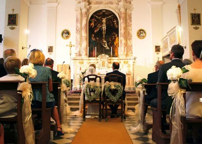 Catholic wedding ceremony in Tuscany