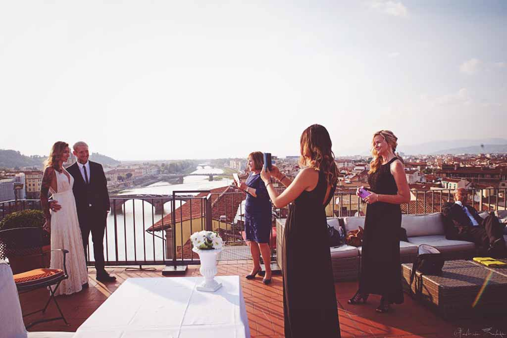 Florence roof terrace wedding
