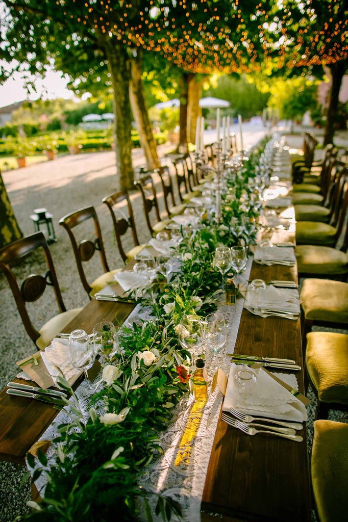 2017 Wedding - Table Decoration in Tuscany