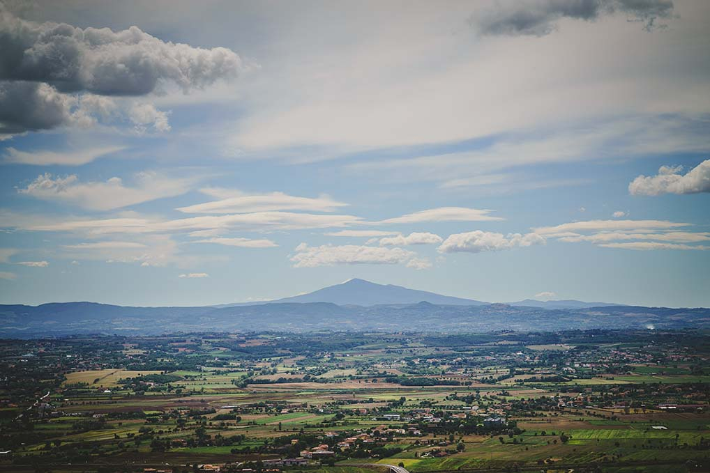 Tuscany view from Cortona