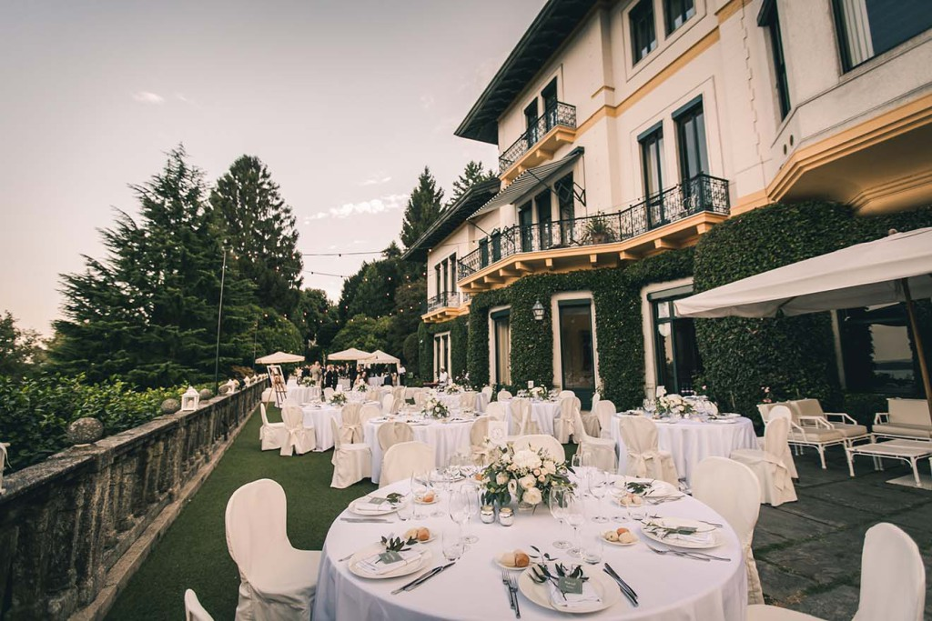 wedding reception on Lake Maggiore