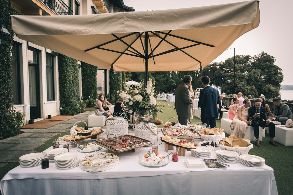 Lake Maggiore wedding reception in Villa