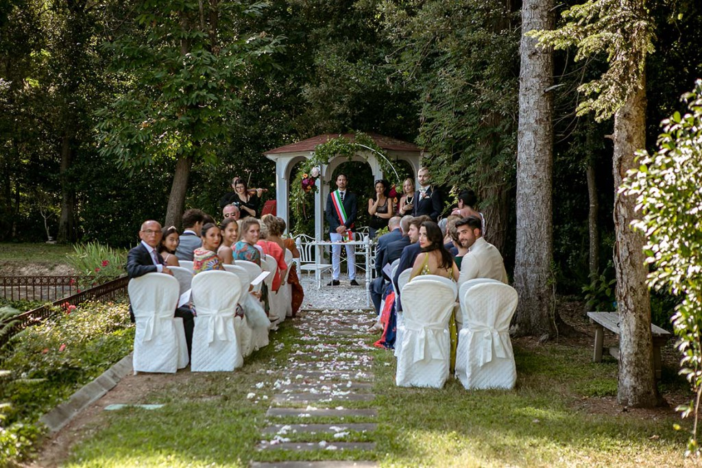 Outdoor civil wedding ceremony