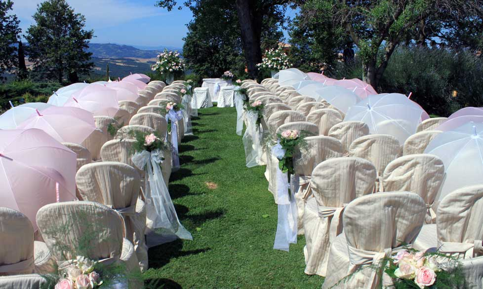 Setting for Outdoor Wedding Ceremony in Italy