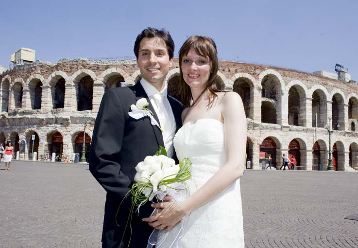 Bridal Couple in Front of the Amphitheater