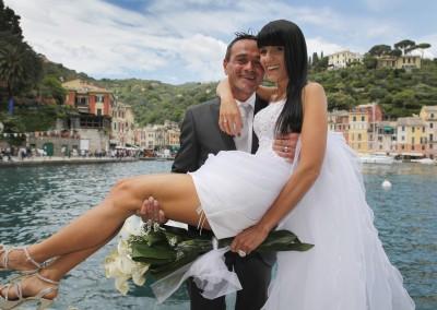 Wedding in the amazing town of Portofino