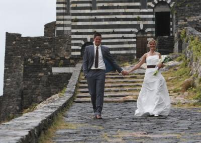Bride and groom in Portovenere