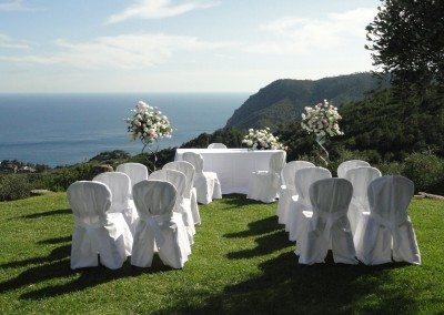 Wedding with breathtaking view
