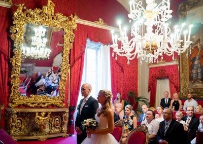 Civil wedding ceremony in Tuscany