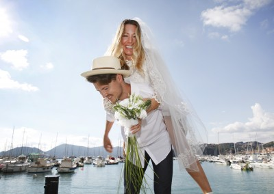 Bridal couple in Lerici