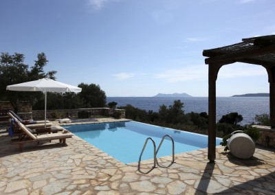Luxury holiday vacation villa with a large private swimming pool.
