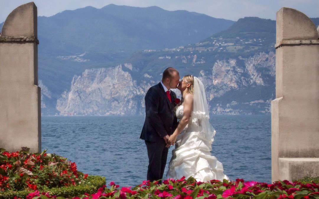 Bridal Couple in Malcesine