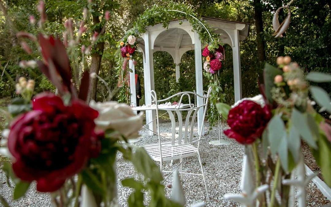 Romantic Wedding Ceremony Set Up