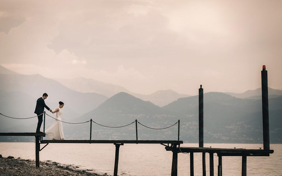 Lago Maggiore bridal couple